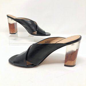 Pour La Victoire Harley Leather & Lucite Sandals